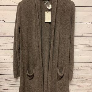 Barefoot Dreams CozyChic Long Cardi With Pockets M